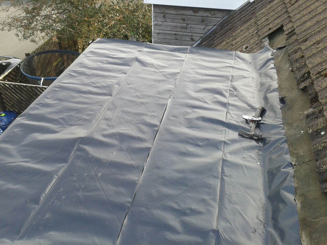 Warm Roof And Grp Installed On Dormer Synergy Roofing